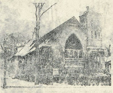 Morgan Park Presbyterian Church circa 1933 Black and White Photo
