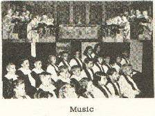 Carol Choir circa 1960s. Lillian Durocher and Mrs. Secord directors