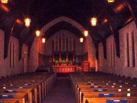 Interior of the church looking West from the back of the church circa 2004