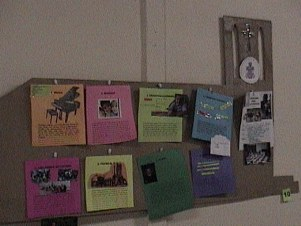 Bulletin Board about the church 2004