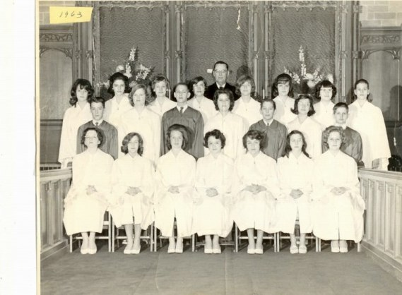 Confirmation class of 1963 at Morgan Park Presbyterian Church