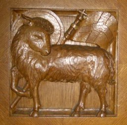 Anus Dei Wood Carving Lamb of God